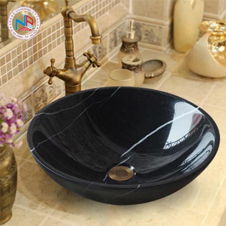 Chậu rửa mặt đá nghệ thuật vân đá đen CL-S021