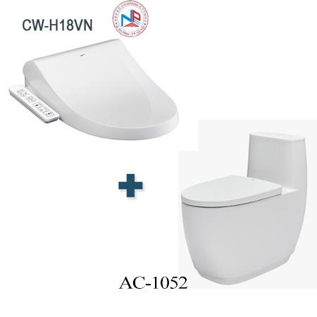 Bồn cầu Inax AC-1052 + CW-H18VN một khối