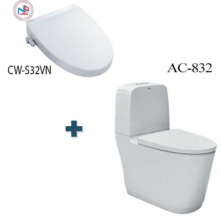 Bồn cầu nắp rửa điện tử Inax AC-832 + CW-S32VN/BW1