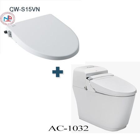 Bồn cầu cảm ứng Inax AC-1032+CW-S15VN một khối