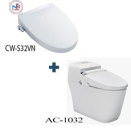 Bồn cầu cảm ứng Inax AC-1032+CW-S32VN một khối