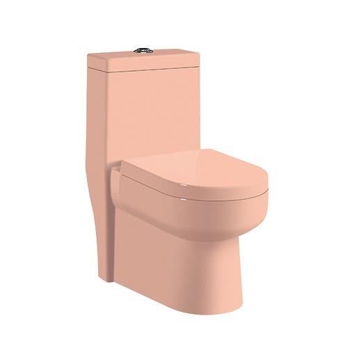 Bồn cầu két liền màu hồng HM-2018P