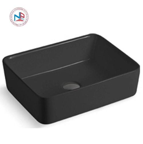 Chậu rửa mặt lavabo màu đen nghệ thuật 49937B