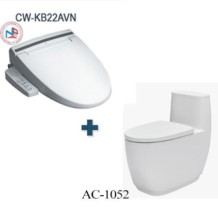 Bồn cầu Inax AC-1052 + CW-KB22AVN một khối