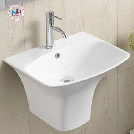 Chậu rửa mặt lavabo ROY R-5200B chân liền