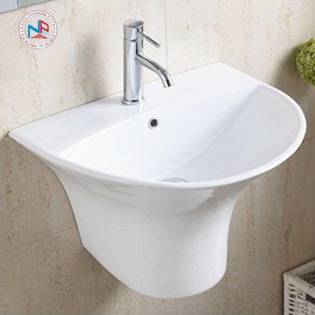 Chậu rửa mặt lavabo ROY R-5300B chân liền