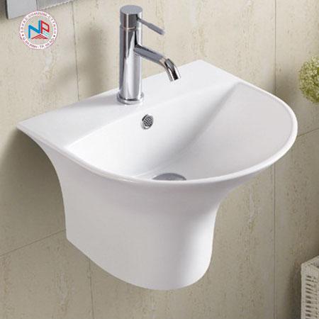 Chậu rửa mặt lavabo ROY R-5300C chân liền