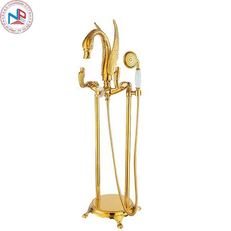 Mẫu Sen tắm xả bồn mạ vàng Miken