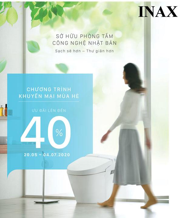 Khuyến mại thiết bị vệ sinh INAX mùa hè 2020 | Giảm giá sốc