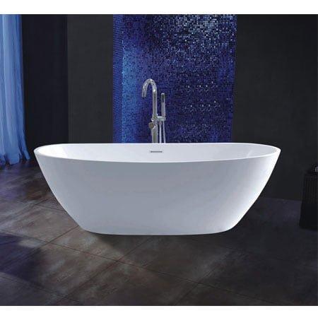 Sen xả bồn đặt sàn và bồn tắm độc lập tạo phong cách mới cho không gian phòng tắm