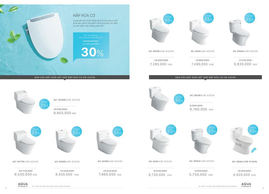 chương trình khuyến mại thiết bị vệ sinh inax