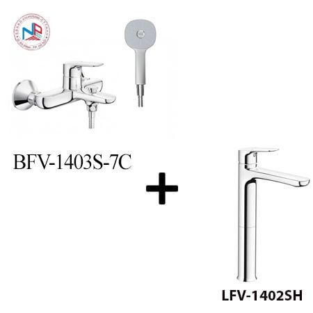 Sen tắm Inax BFV-1403S-7C kèm vòi rửa LFV-1402SH
