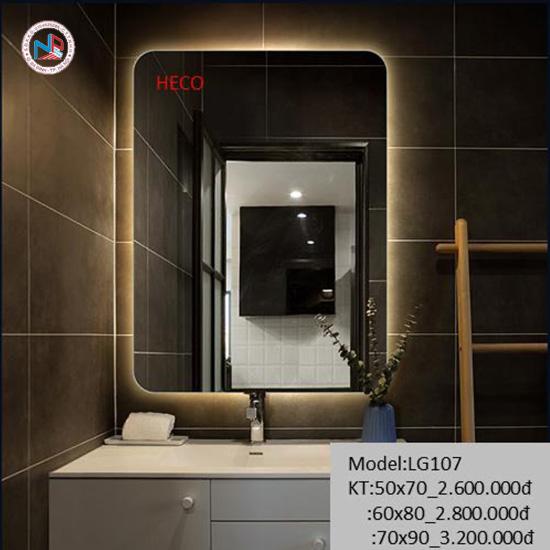 Gương sấy cảm ứng đèn Led Heco LG-107