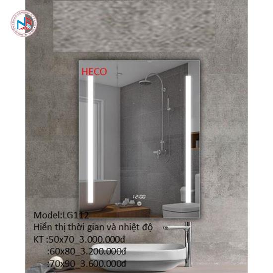 Gương sấy cảm ứng đèn Led Heco LG-112