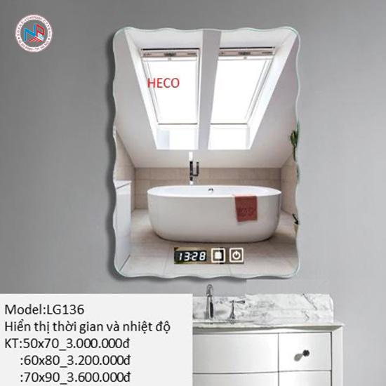 Gương sấy cảm ứng đèn Led Heco LG-136
