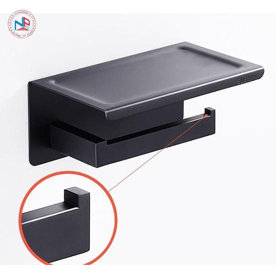Lô giấy vệ sinh inox304 Black ZT01(6815)