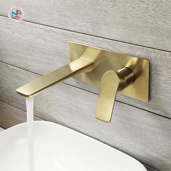 Vòi rửa lavabo mạ vàng NP411