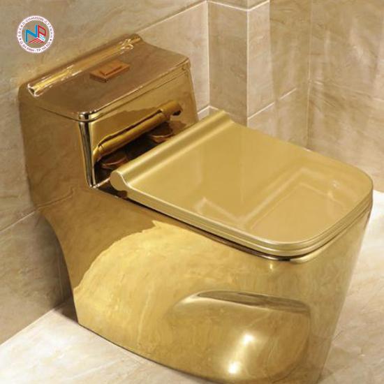 Bồn cầu nghệ thuật mạ vàng NP402