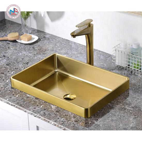 Chậu rửa lavabo mạ vàng NP415
