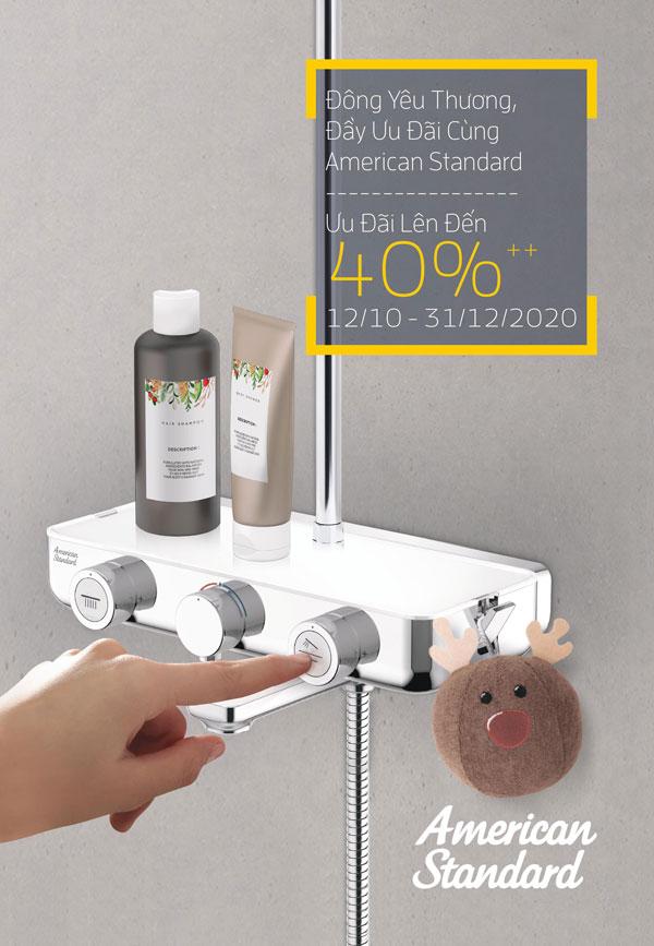 Khuyến mại thiết bị vệ sinh American Standard mùa đông 2020 – KM lên đến 40%