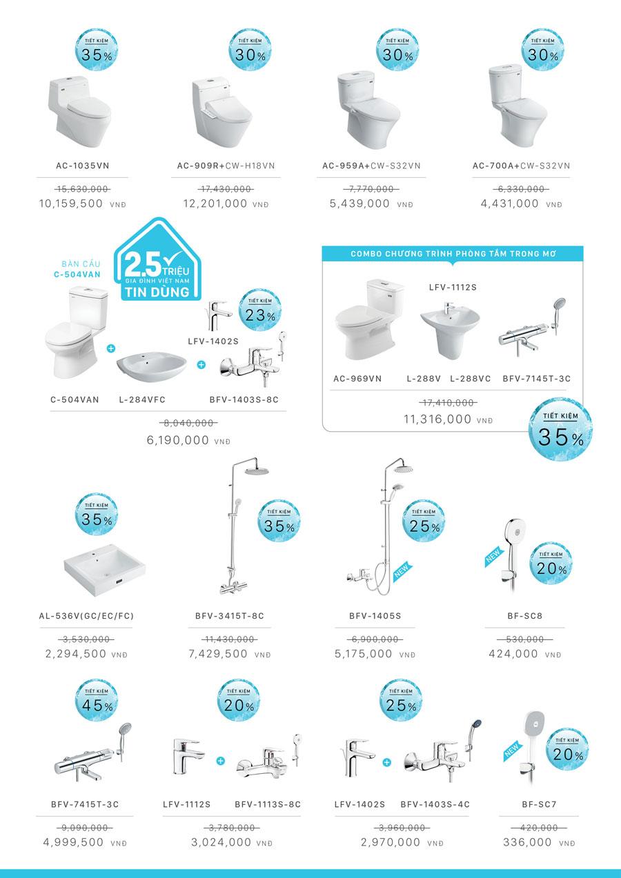 Giảm giá cực lớn các sản phẩm thiết bị vệ sinh INAX 4