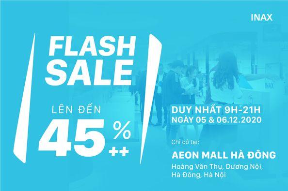 FLASH SALE DAY – Khuyến mại lên đến 45% Thiết bị vệ sinh INAX