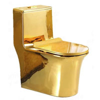 Bồn cầu mạ vàng quý tộc 4