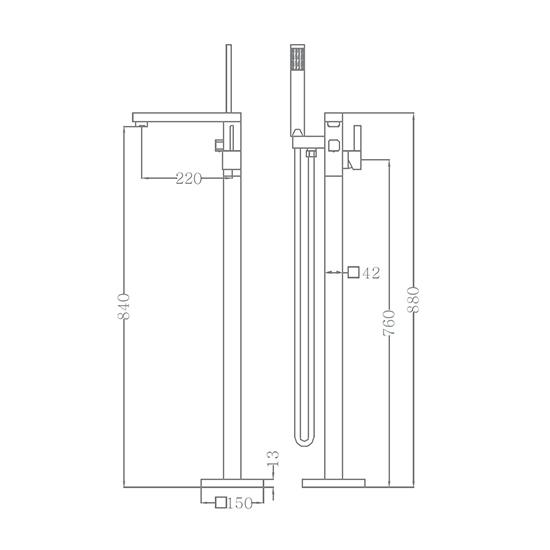 Bộ vòi sen xả bồn SEWO 51001-A