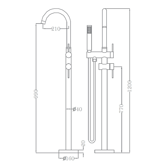 Bộ vòi sen xả bồn SEWO 51005-A