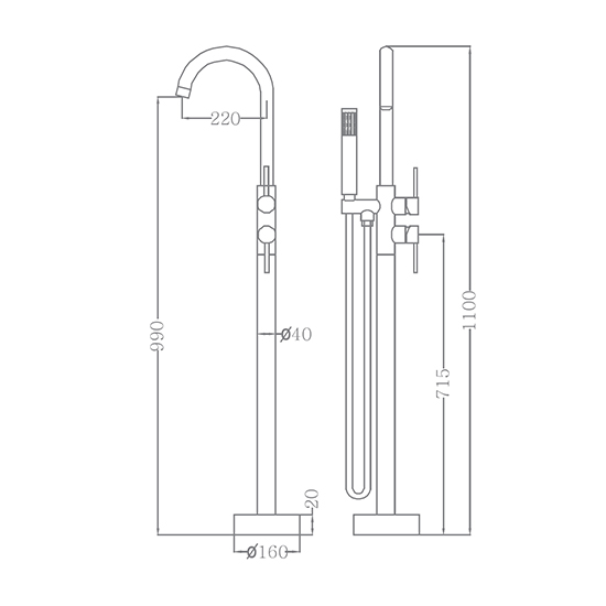 Bộ vòi sen xả bồn SEWO 51005-C