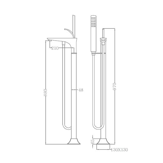 Bộ vòi sen xả bồn SEWO 51028-1