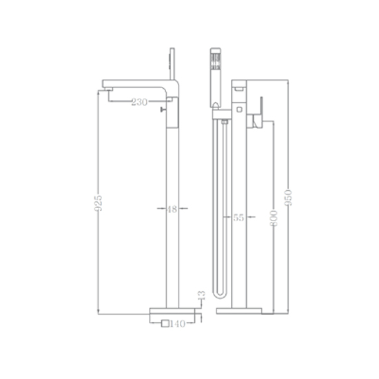 Bộ vòi sen xả bồn SEWO 81002C