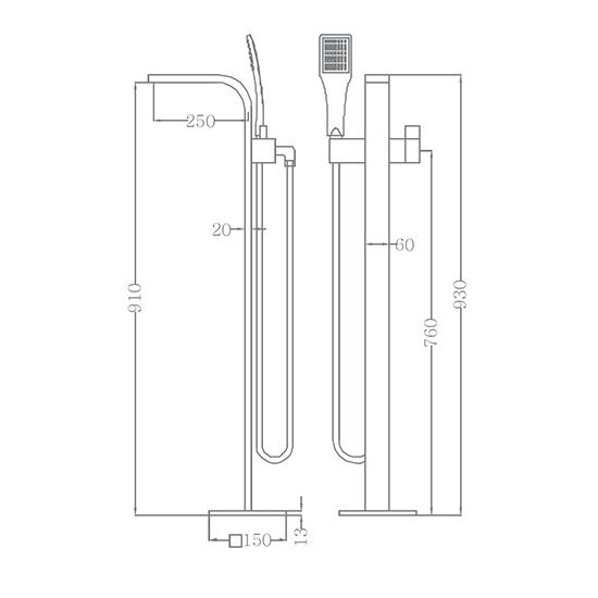 Bộ vòi sen xả bồn SEWO 61001-A