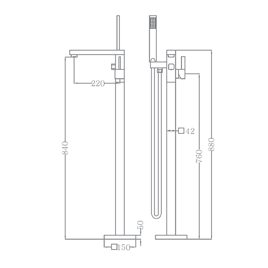 Bộ vòi sen xả bồn SEWO 51001-2