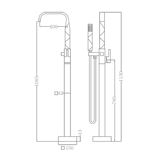Bộ vòi sen xả bồn SEWO 51002-1