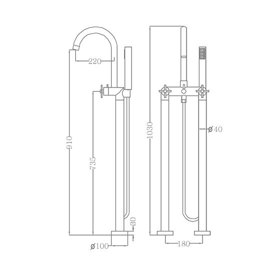 Bộ vòi sen xả bồn SEWO 51003-4