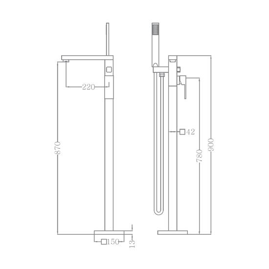 Bộ vòi sen xả bồn SEWO 51007-C