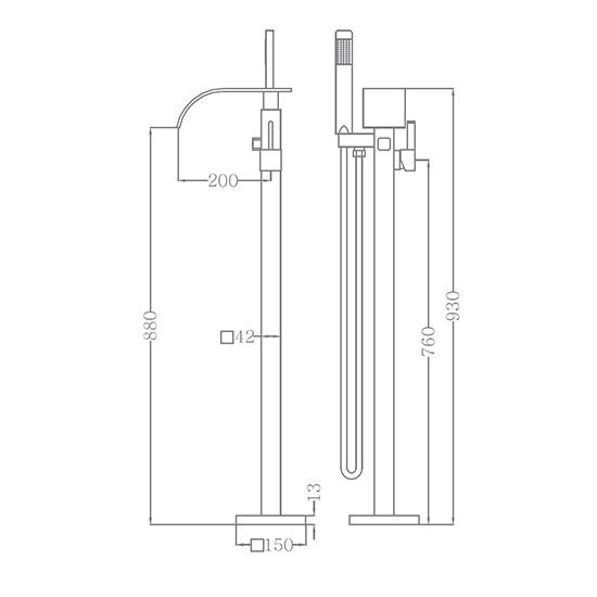 Bộ vòi sen xả bồn SEWO 51009-2