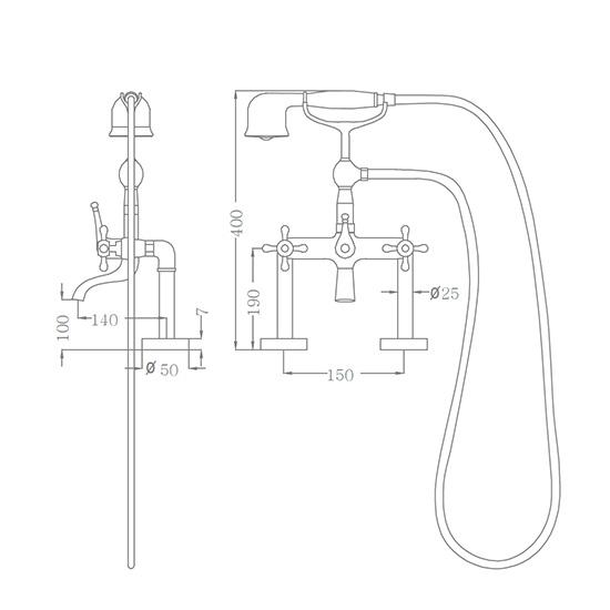 Bộ vòi sen xả bồn SEWO 51016-2