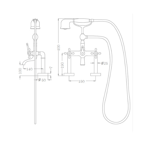 Bộ vòi sen xả bồn SEWO 51016-5