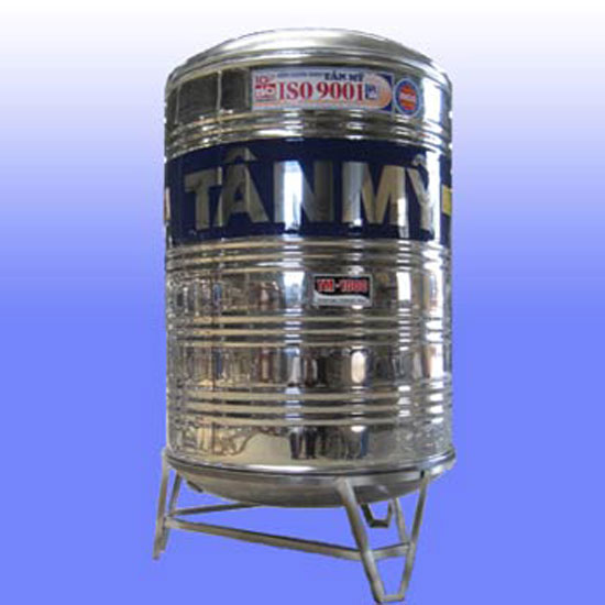 Bồn nước inox Tân Mỹ đứng TM1700L (Ø1180)