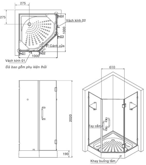 Cách chọn kích thước bồn tắm đứng 1