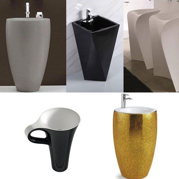 Chậu rửa lavabo nghệ thuật liền có thiết kế đặc biệt