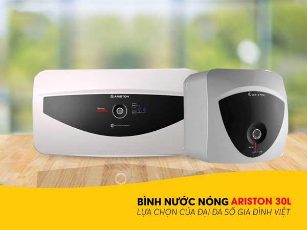 Bình nóng lạnh Ariston 30L là sự lựa chọn ưu tiên của các gia đình