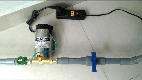 tăng áp lực nước cho vòi sen