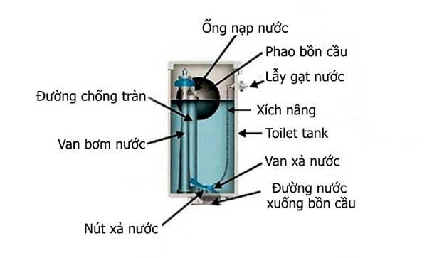 Cấu trúc của két nước trong bồn cầu 1