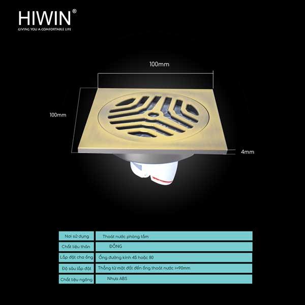 Ga thoát sàn Hiwin FD-1122