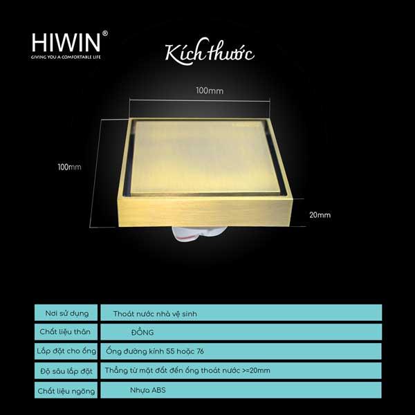 Ga thoát sàn Hiwin FD-1901D