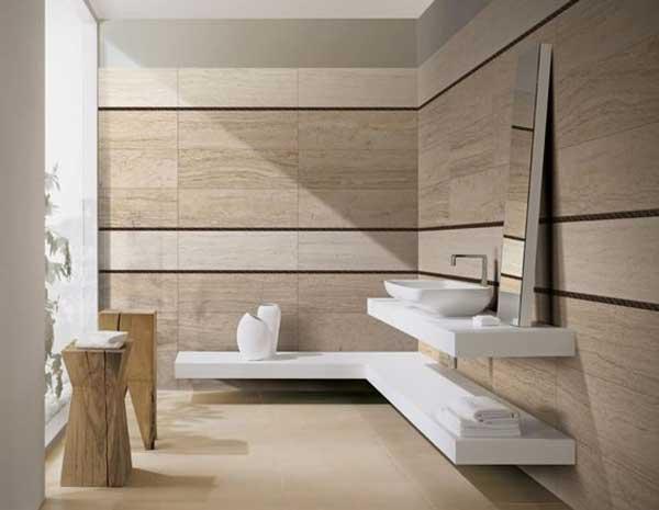 Gạch ốp tường giúp nhà vệ sinh sang trọng hơn. Nên là một khoản đáng đầu tư trong chi phi xây nhà vệ sinh