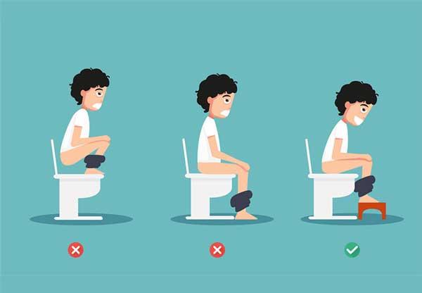 Ngồi bồn cầu đúng cách tránh bệnh trĩ